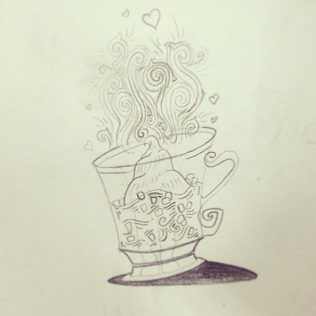 """More sketches for the Ultimate Snow Day Survival Guide! This lil guy is from the """"Hot Chocolate Complete w/ Mini-Marshmallows"""" page. #zine #illustration #ilovemyjob #design #artanddesign #conceptart #collaboration #art #sketch365 #sketch4life #sketchoftheday #pencil #doodle #dailysketch #snowday"""