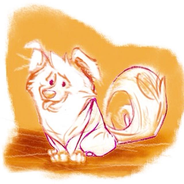 Puppy painting! #characterdesign #illustration #digitalart #digitalpainting #childrensbooks #animaldesign #art #artanddesign #sketch365 #sketchoftheday #sketch4life #design #ilovemyjob #puppy