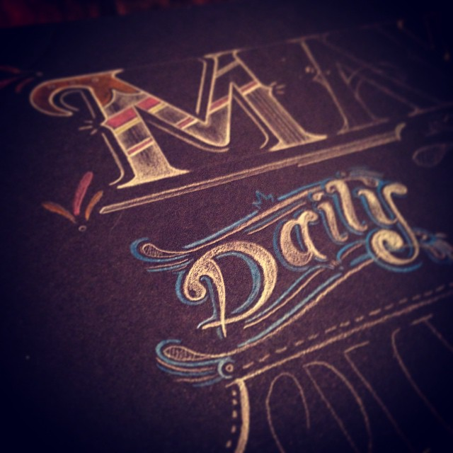 More process shots from the Make menu! #type #type365 #typeaddict #typography #thedailytype #GratuitousType #thedesigntip #lettering #chalk #chalkboard #chalkboardlettering #graphicdesign #ArtofType #artanddesign #art #conceptart #promotionaldesign #productdesign