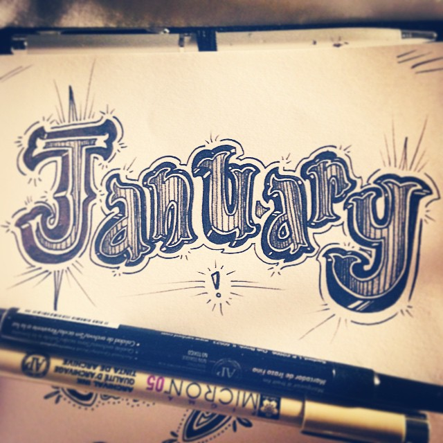 Well you cured my January blues. Type before a meeting, filling 20 minutes. #typeaddict #type #typography #type365 #thedailytype #thedesigntip #design #graphicdesign #GratuitousType #January #artanddesign #art #handdrawntype #lettering #conceptart #penandink #sketch4life #sketch365 #sketchoftheday #conceptart