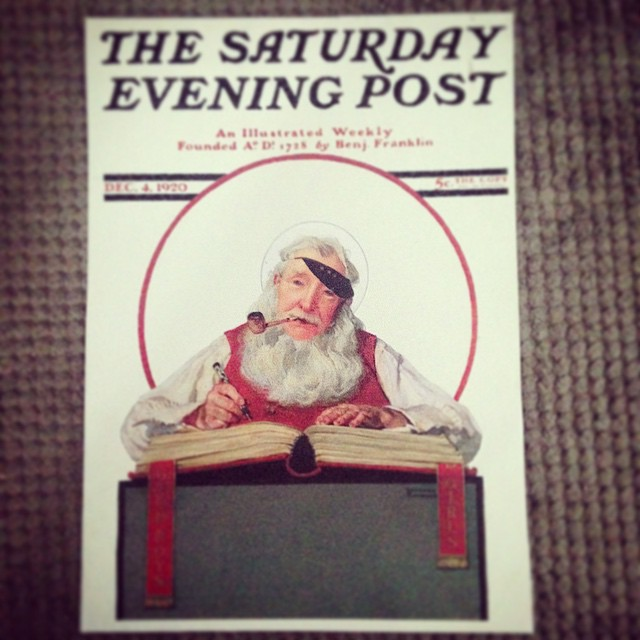As many of you know, my beloved grandfather is very ill and doesn't have much time left with us. In honor of his generous and giving spirit, I painted his as Santa Claus in the style of Norman Rockwell's Saturday Evening Post covers for a Christmas gift one year. I love you and am so very grateful for all the gifts you've brought into my life. #normanrockwell #painting #oilpainting #christmas #vintage #conceptart #santa #portraits #illustration #design #artanddesign #art