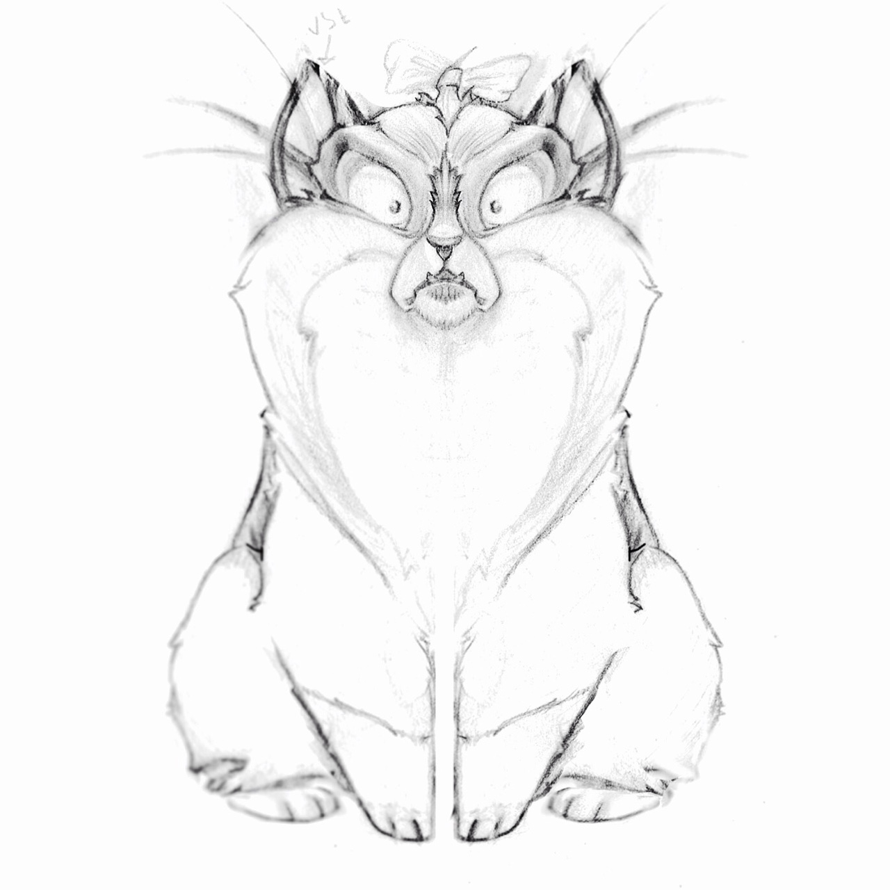 Oh yeah and I drew this. Character design for a children's book (named after and based on my gorgeous diva cat, Madame George). #childrensbooks #characterdesign #sketch4life #conceptart #pencil #illustration #animalcharacterdesign #artanddesign #art #sketchoftheday #cartoon