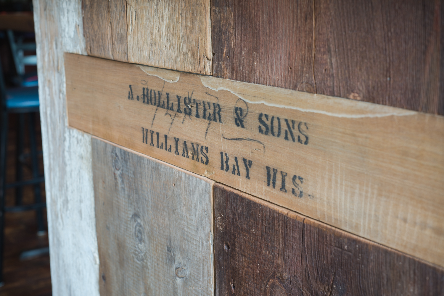 Original lumber company door casing stamp from A. Hollister & Sons.