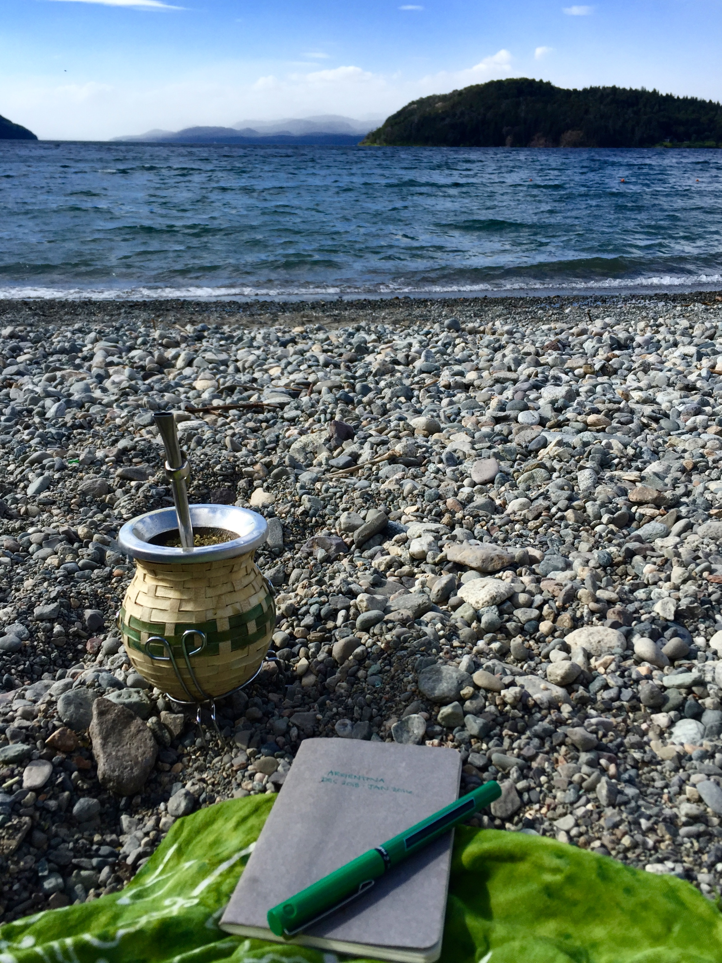 Sipping mate while making notes for next year's retreat.