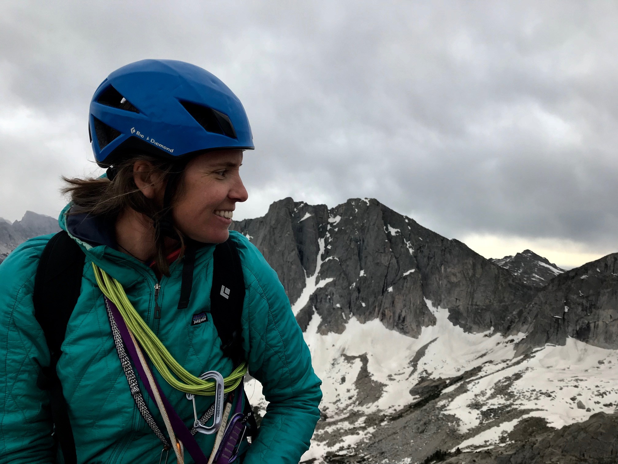 Sara taking in the view on top of Pingora Peak