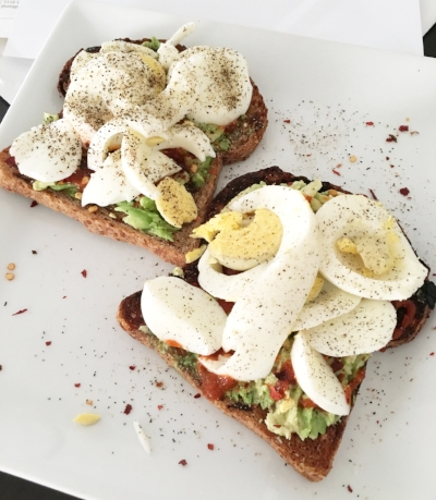 Also what I have for breakfast 99% of the time! Love me some avo toast..