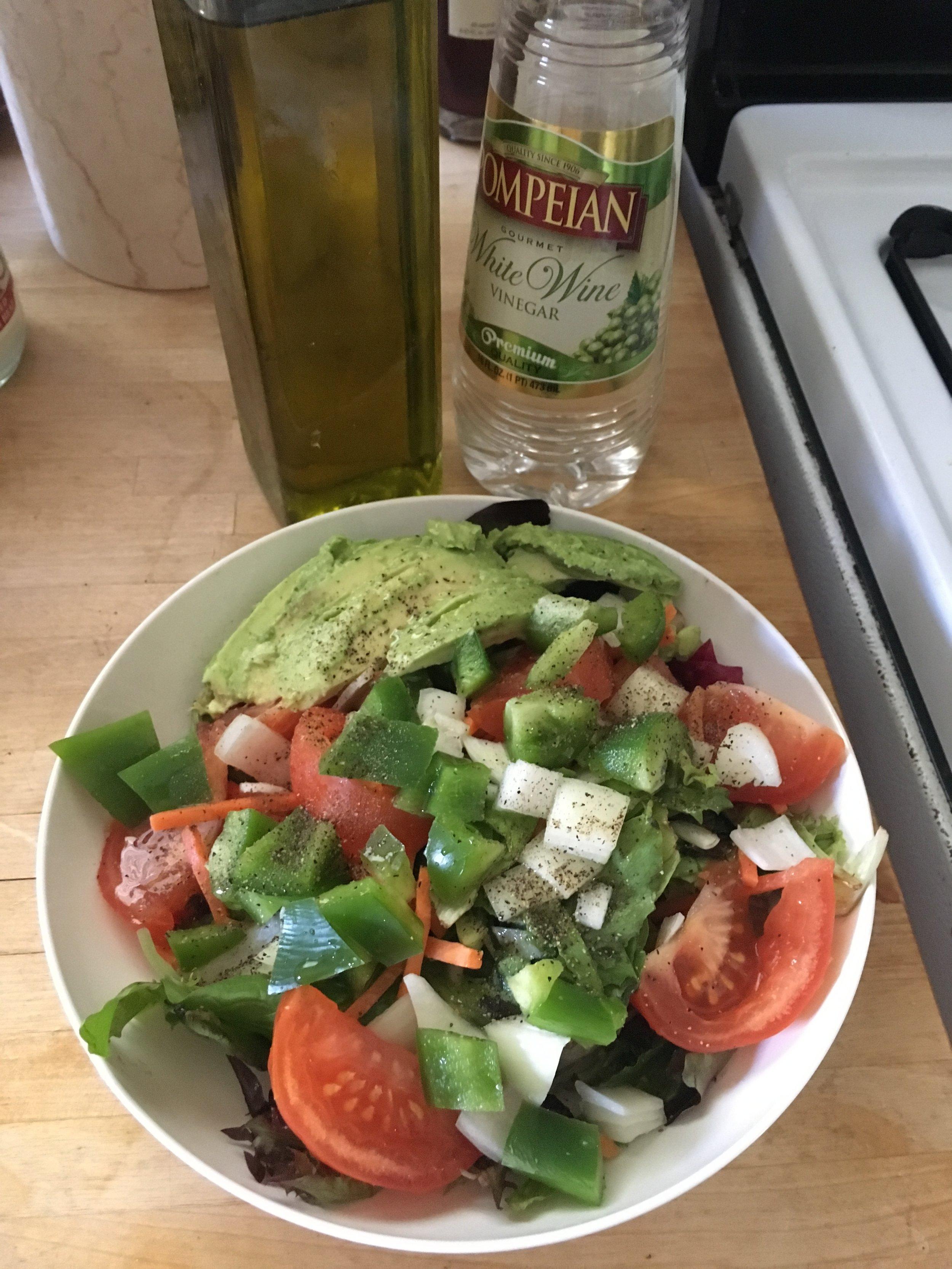 Oil & Vinegar avocado salad