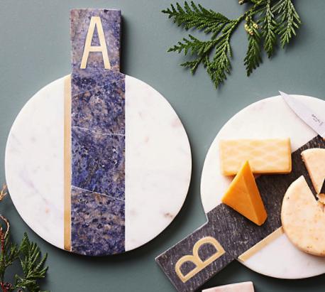 Marble Monogram Cheese Plate - $38
