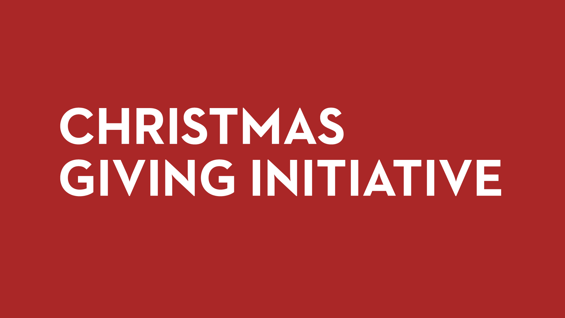 The Well's Christmas Giving Initiative    November 26th, 2017