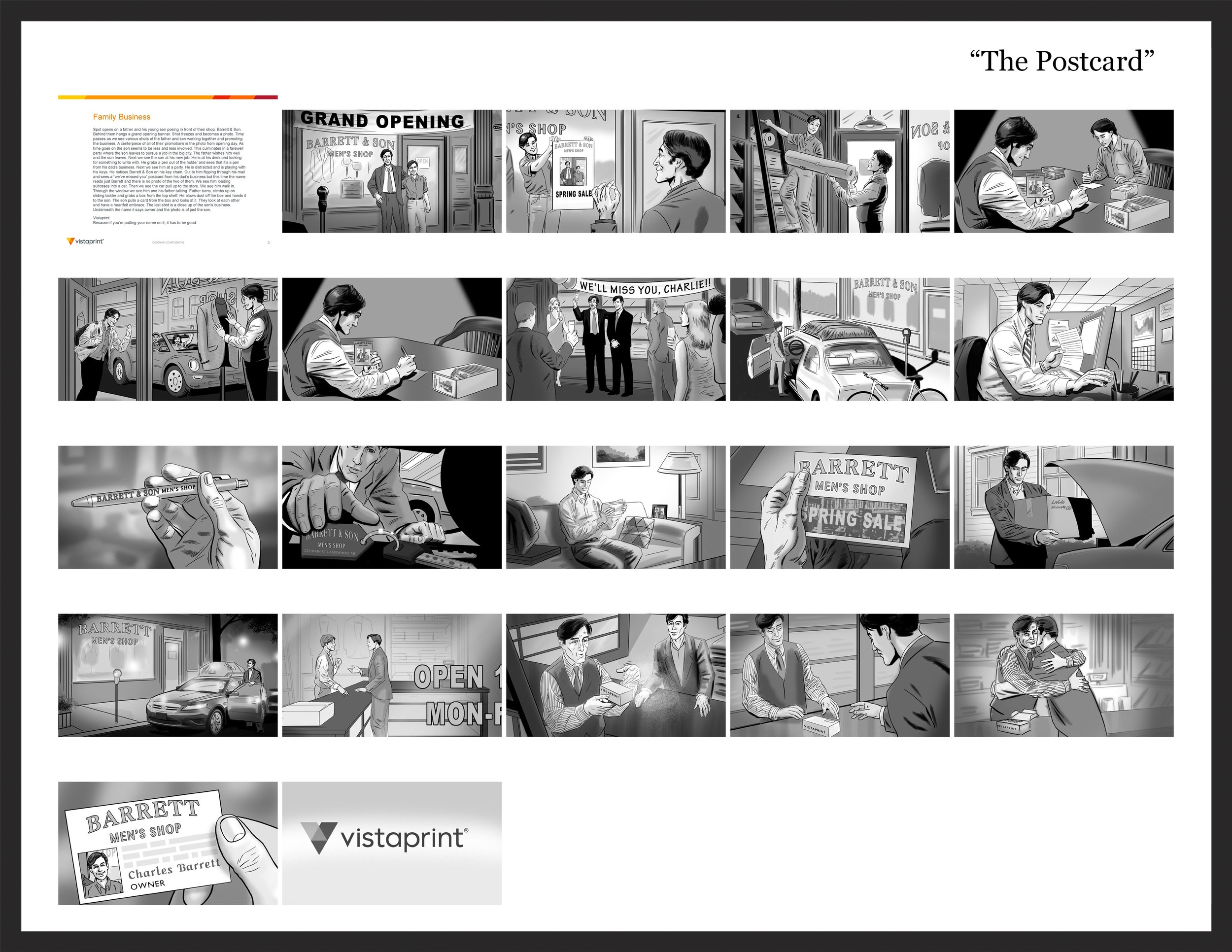Click to see the original early on storyboard we sent to directors.