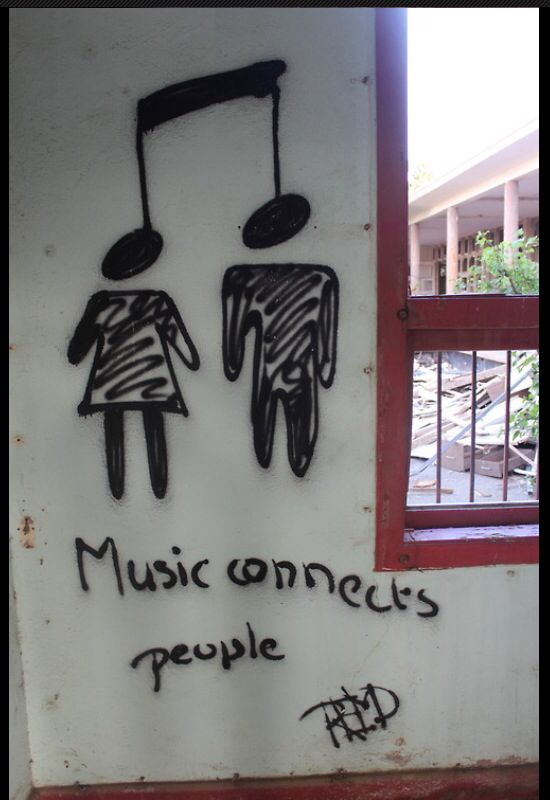 music connects people, music street art