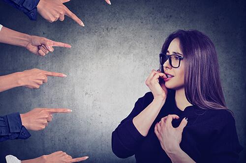 woman resisting social anxiety