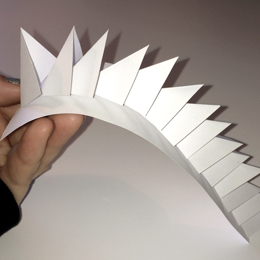 Overlay & flexible defence structure (3D paper sketch)