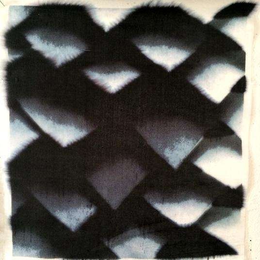 Soft flakes of overlay - Digital textile print on silk