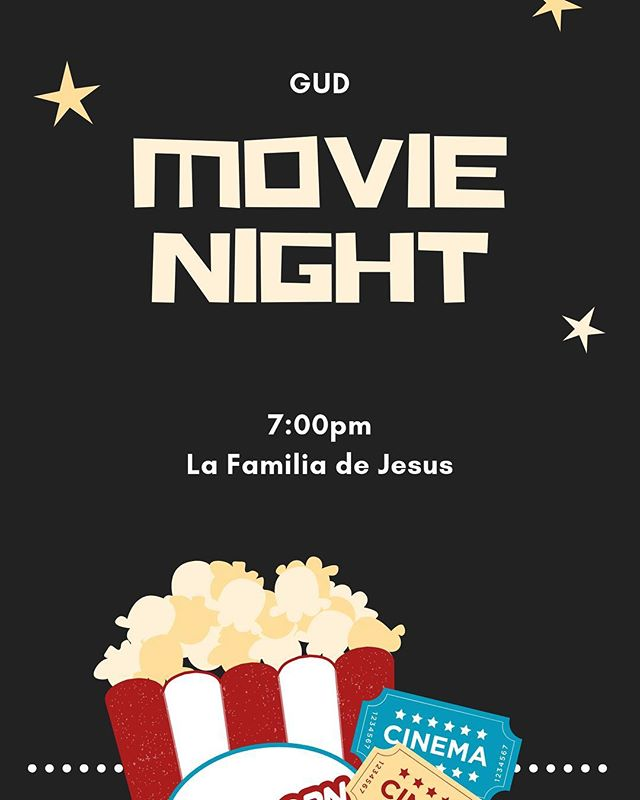 Come out tonight for our movie night!  Please arrive a little early as we'll be selling snacks and popcorn! We will start the movie at exactly 7:00! So don't be late!