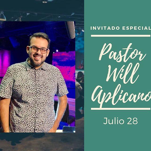 Este Domingo tendremos al invitado especial el Pastor Will Aplicano que nos visita desde Dallas. No te lo puedes perder. #somostufamilia