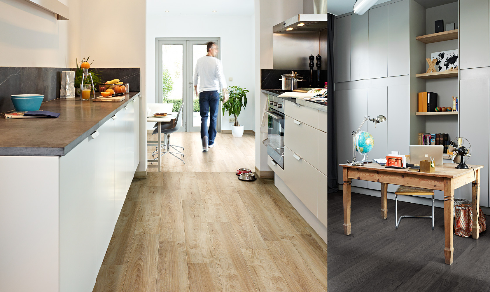 Amigo's is proud to offer Balterio Laminate flooring made in Belgium. With quality this good, it's great for kitchens and bathrooms.