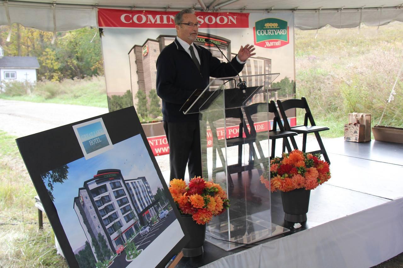 Greg Dell, Groundbreaking Ceremony, Marriott Hotel