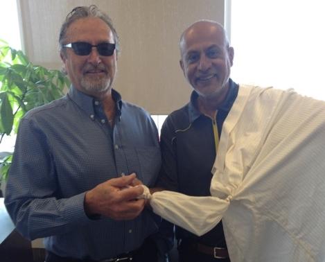 Greg with Muhammed Walji, President of Golden Gate Group
