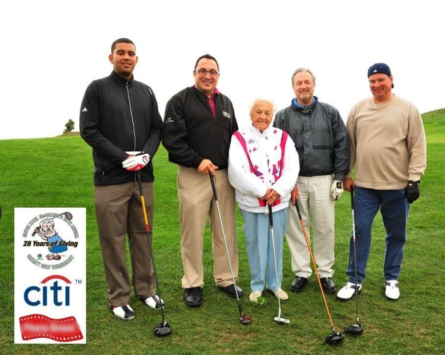 Golfing with Hazel McCallion & Staff