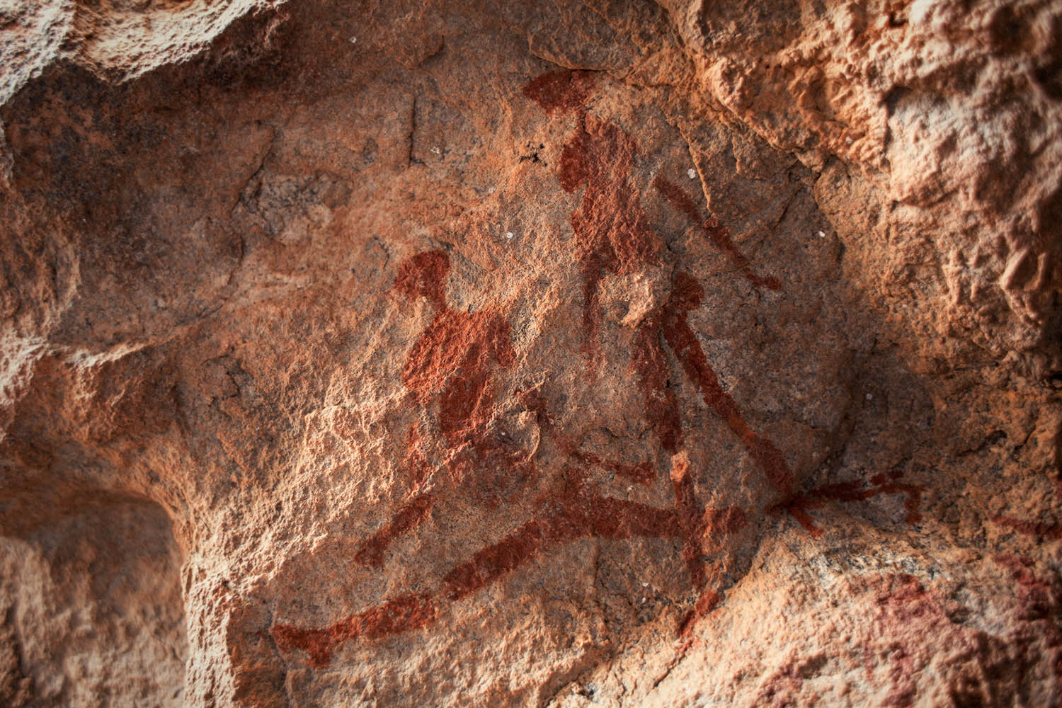 Rock paintings in Messum Crater