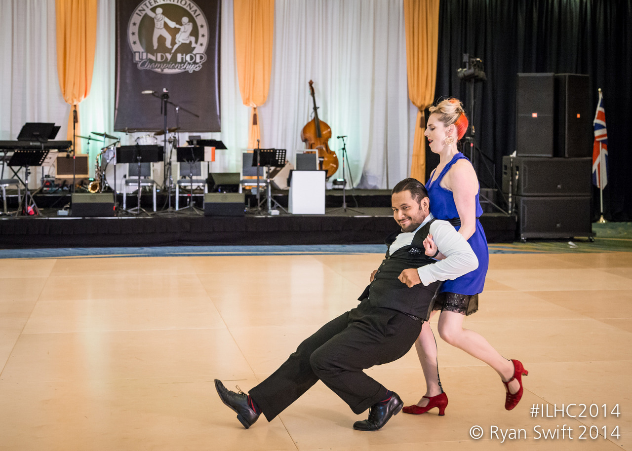 Mikey Pedroza & Jo Hoffberg, ILHC 2014   by Ryan Swift       via Flickr    Just Announced! The Track Podcast LIVE at  ILHC !   As part of their amazing LED Talk series, I will be hosting a very special  LIVE  episode of the The Track podcast this coming weekend at the  International Lindy Hop Championships ! Join me in person on Saturday (12:15pm-1:15pm) as I sit down and have a conversation with the one and only   Mikey Pedroza  !  Check out the  ILHC Workshop & LED schedule  and plan your weekend accordingly!