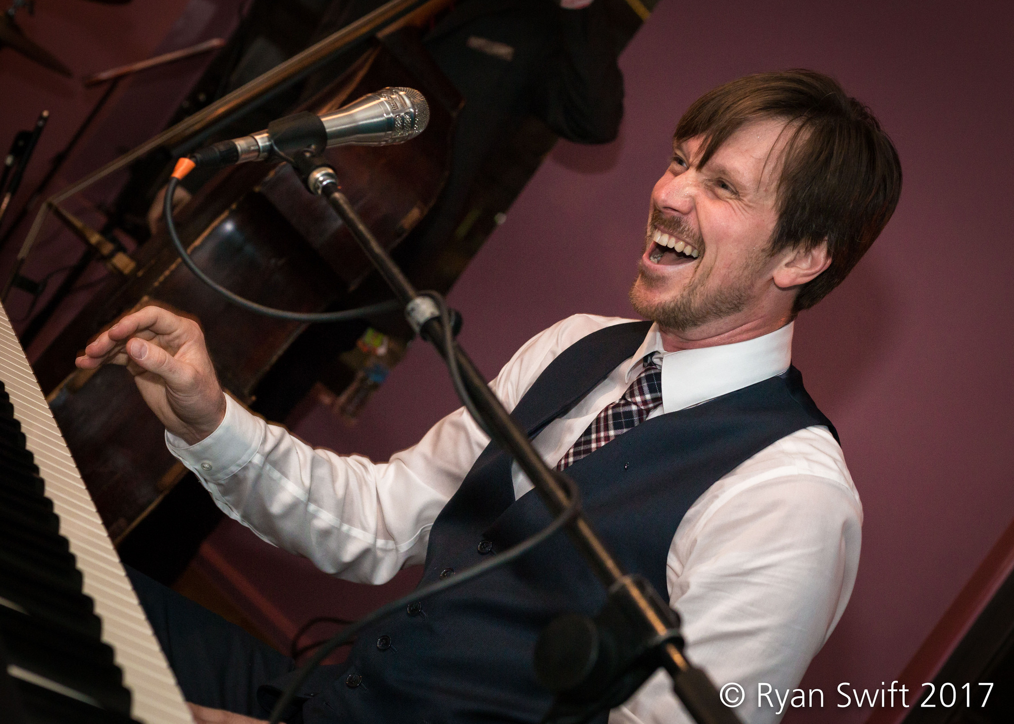 """Gordon Webster performs at the CD release party for """"This."""" at  Frim Fram Jam ."""