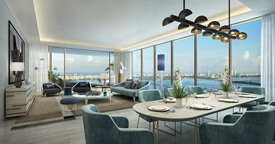 Elysee is a 57-story bayfront, luxury condo tower that features 100 half-floor and full-floor residences designed by world-renowned architect Bernardo Fort-Brescia of Arquitectonica with interiors created by France's top designer Jean-Louis Deniot. Residences include floor-to-ceiling glass windows and sliding doors, private elevators and foyers, 10 to 12-foot ceiling heights, designer finishes and fixtures, premium appliances, top-of-the-line Italian cabinetry, and flow-through floorplans with 2-terraces for sunrise and sunset views. Amenities include 2 resort style pools, a health club with state-of-the-art fitness center, yoga studio, spa with sauna, steam and shower facilities and private massage rooms, exclusive entire 30th floor Owners Sky Lounge featuring a great room, a grand salon entertainment area with a full bar and piano lounge, grand dining room, wine room, chef's kitchen, library, and Elysee Attaché, a premium concierge service that will be available to residents 24/7 for travel arrangements, dinner reservations, concert and event tickets, etc. #Elysee #ElyseeMiami #MiamiRealEstate #BuyMiami #SRGmiami • • • For more information buying, renting or selling real-estate in Miami head to DemetriDemascusMiami.com Call/ Text: 203-252-7201