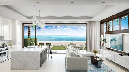 """3621 South Ocean is bringing """"seamless beach to home"""" luxury living to 200' of beachfront in Highland Beach. 3621 South Ocean consists of 6 townhomes which rise 4-stories spanning 5 bedrooms, 6.5 bathrooms and 5,436 SF. The luxurious residences come complete with a second floor logia with plunge pool with direct ocean exposure perfect for entertaining. Other features include an elevator, 2-story living room, third-floor master suite, 10'-11' ceilings, 2-car garage, kitchen with Miele appliances, marble floors and a 250 SF rooftop entertainment deck. Pricing starts at $6.8 million. DM📲 text, or call us today to discuss reserving your new residence! #BuySouthFlorida #HighlandBeach #SRGmiami • • • For more information buying, renting or selling real-estate in Miami head to DemetriDemascusMiami.com Call/ Text: 203-252-7201"""