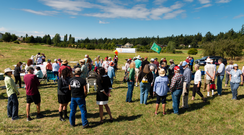 Ground breaking crowd. (Photo by  Kay Harper  and  DejaView Photography )
