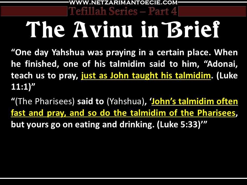 Tefillah Part 4 - Fixed Prayer The Amidah — Netzarim Antoecie