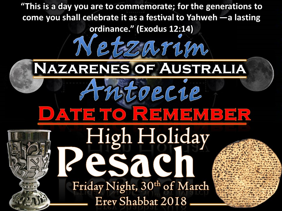 Pesach (Passover)  - Friday Night, 30th of March, Erev Shabbat 2018