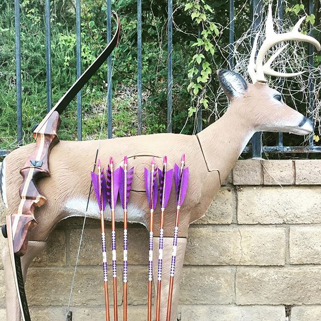 Good morning #archery ! Let's shoot the #target and make #beats . #deer #3D #bow #arrow