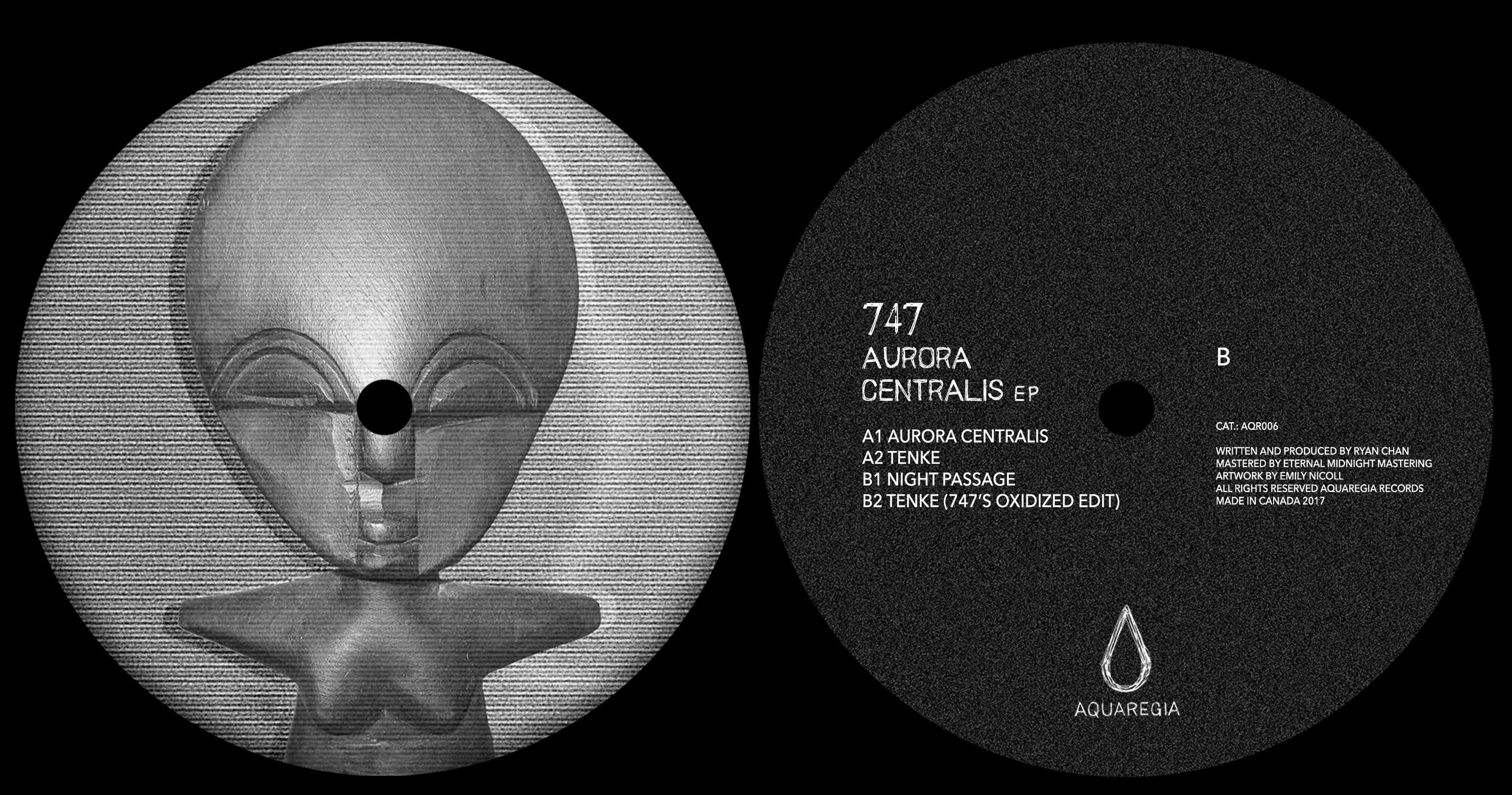 The Aurora Centralis EP vinyl from 747 is available soon in the Aquaregia webshop.