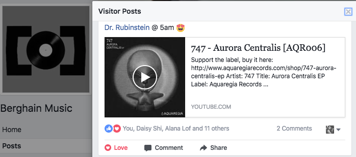 Dr. Rubinstein plays Aurora Centralis by 747 at Berghain during her closing set.