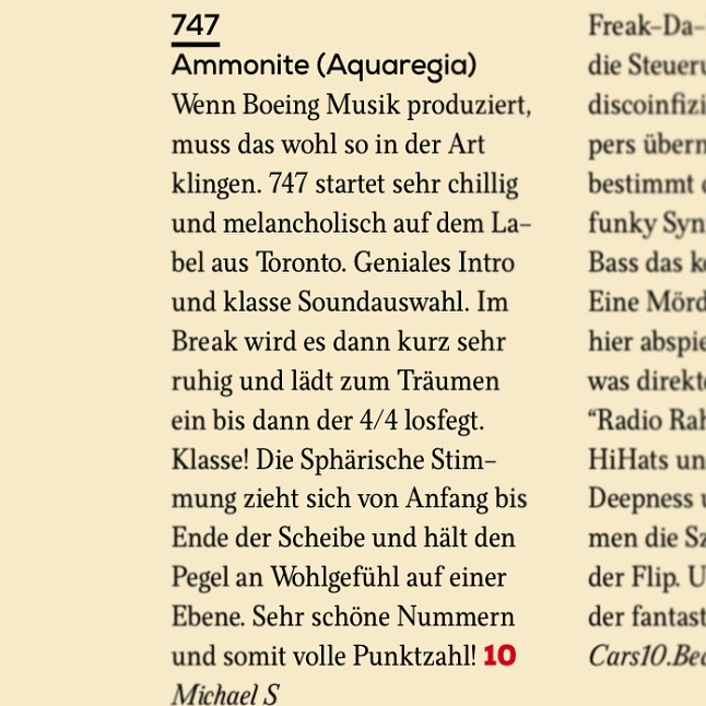 FAZE Mag reviews Ammon by 747 in their December 2016 magazine.