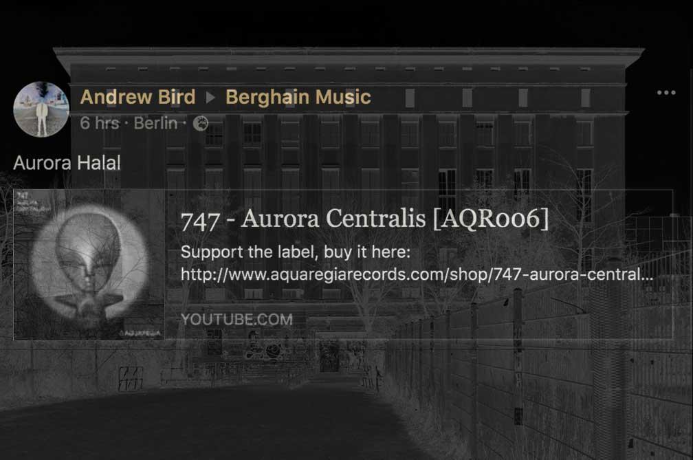 Aurora Halal plays 747's Aurora Centralis at Berghain.