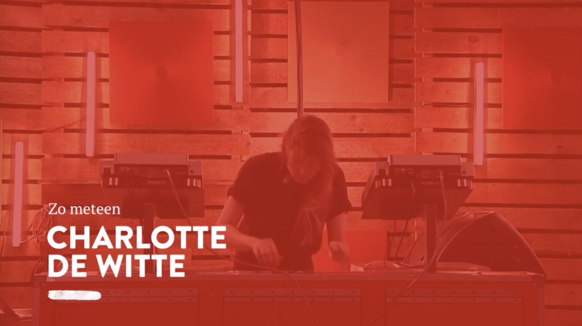 Charlotte De Witte playing 747's Cambrian off the Paleo Pt. I EP at Studio Brussel.