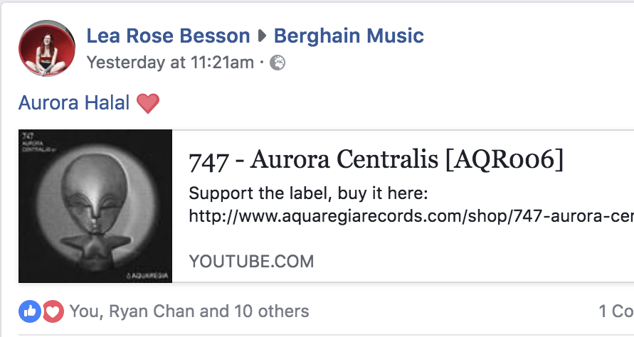 Aurora Halal Plays 747 - Aurora Centralis at Berghain Monday morning on April 9th.