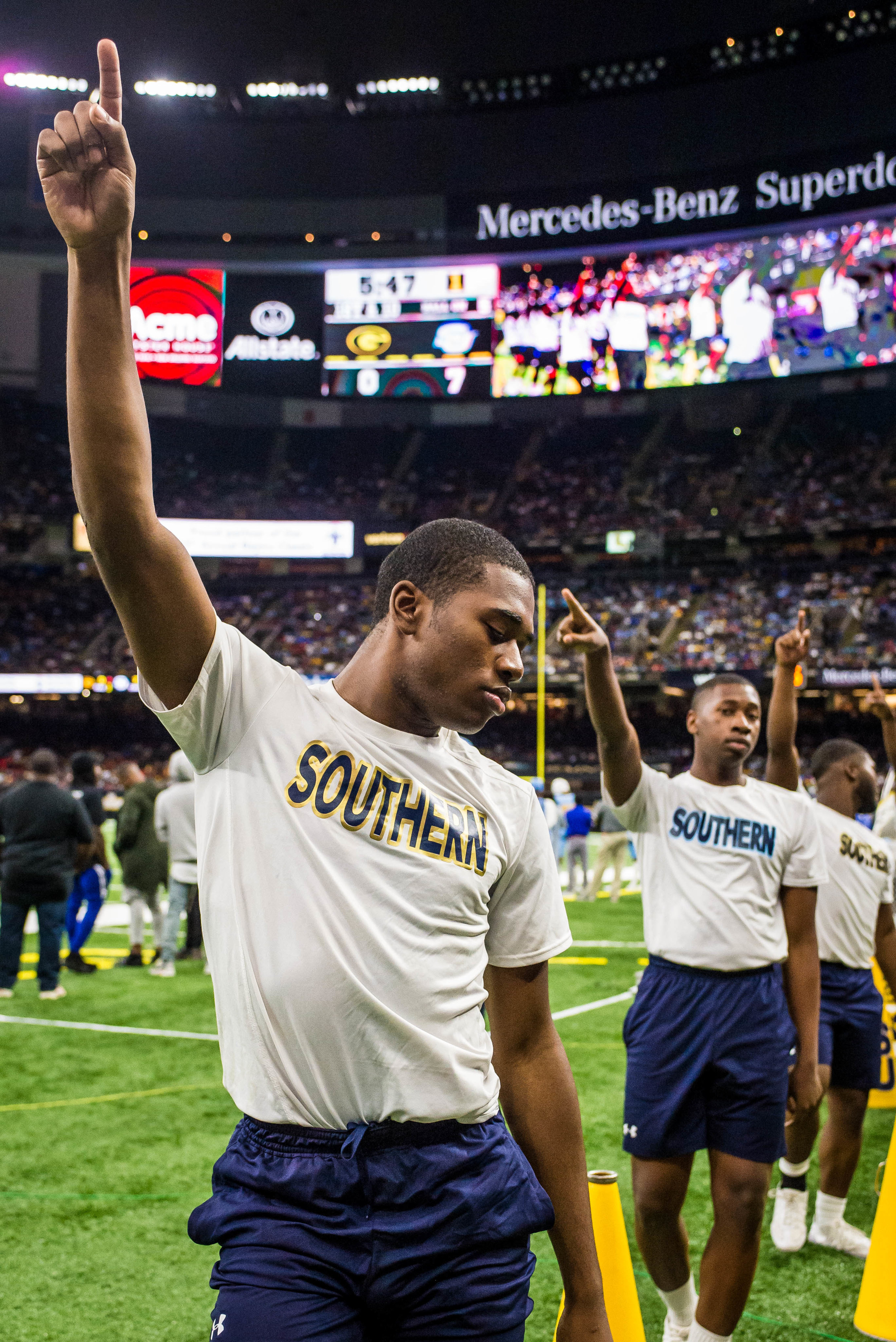 Southern University cheerleaders perform during the 44th annual Bayou Classic on Saturday, Nov. 24, 2018, at the Mercedes-Benz Superdome. Southern won against Grambling State State University 38-28.