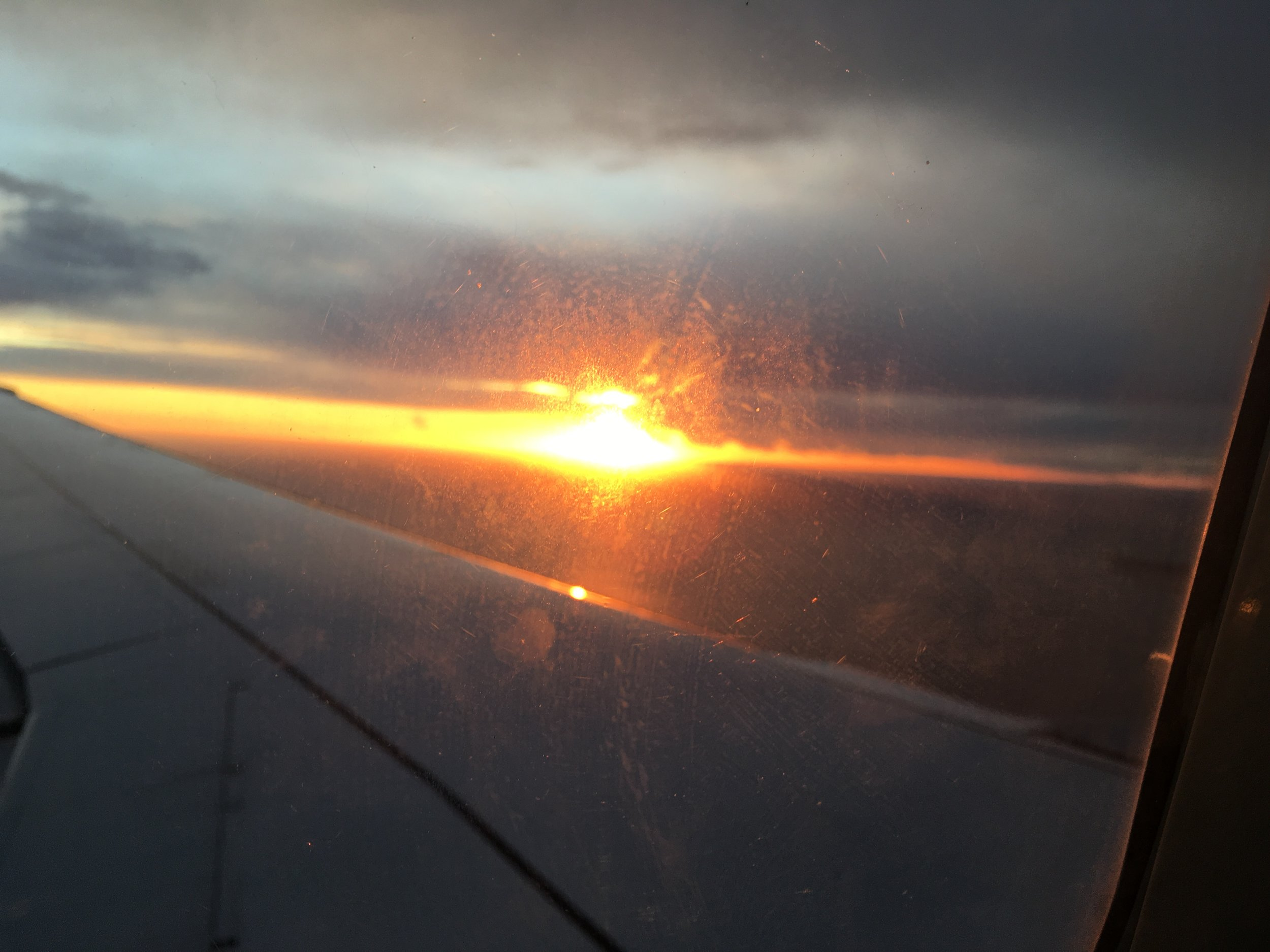 Italy Welcomed us with an amazing Sunset!
