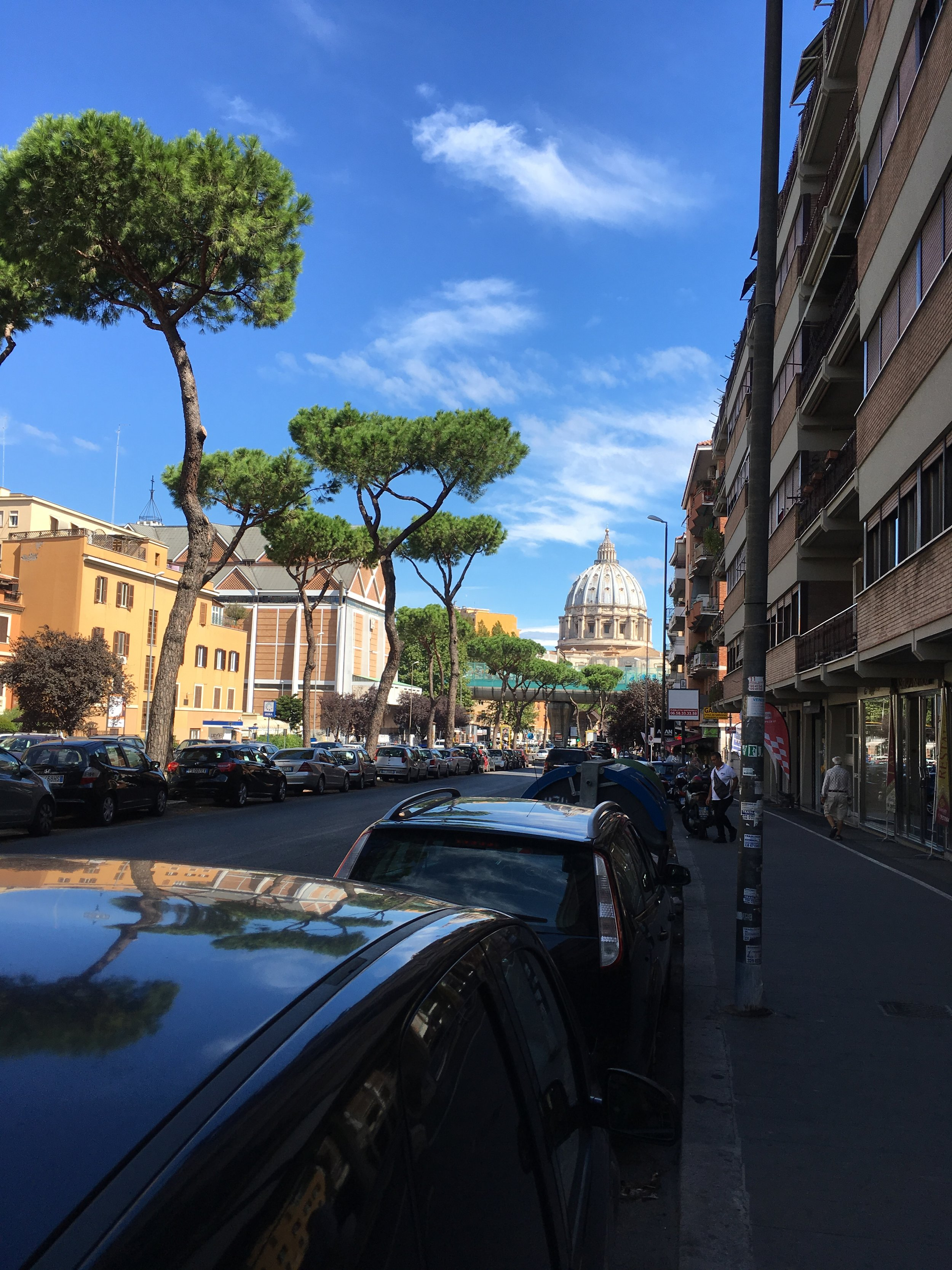 you could see the vatican from the main street by our cottage