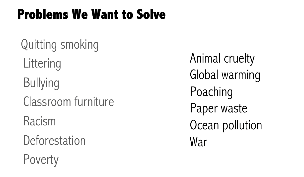 Identifying Problems (4th Graders)