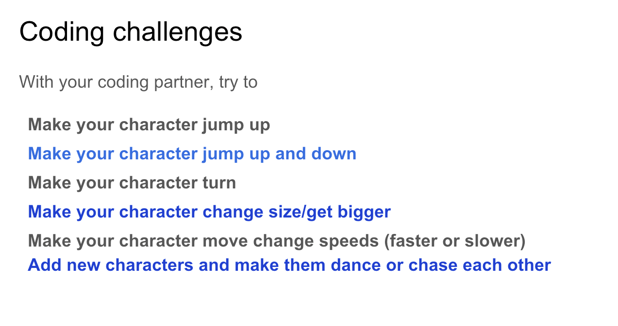 Coding Challenges for 3rd Graders