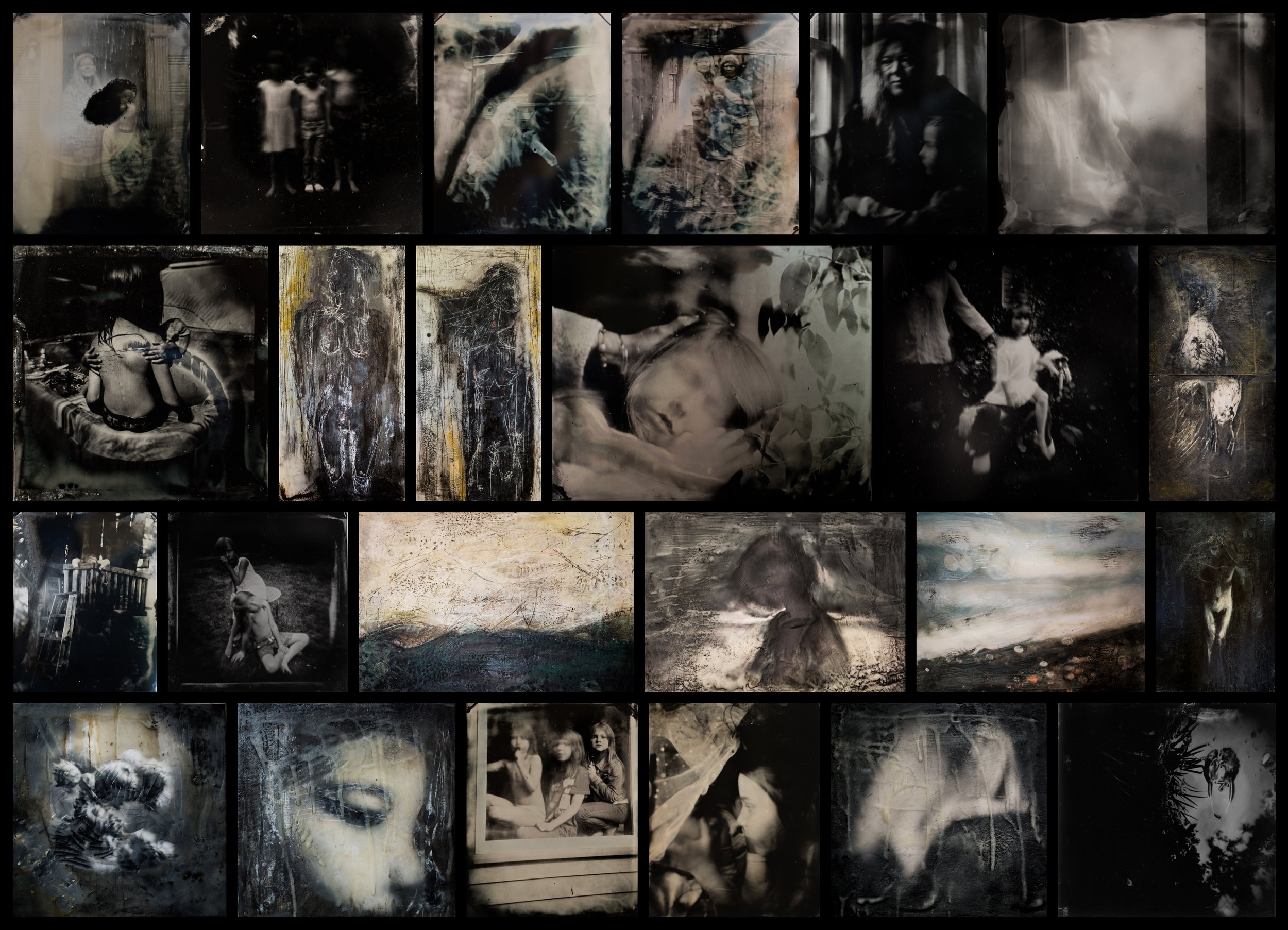 A on-going collection of works encaustic and wet plate.