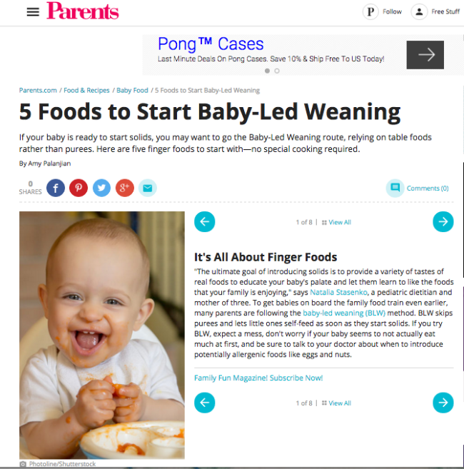 5 Foods to Start Baby Led Weaning