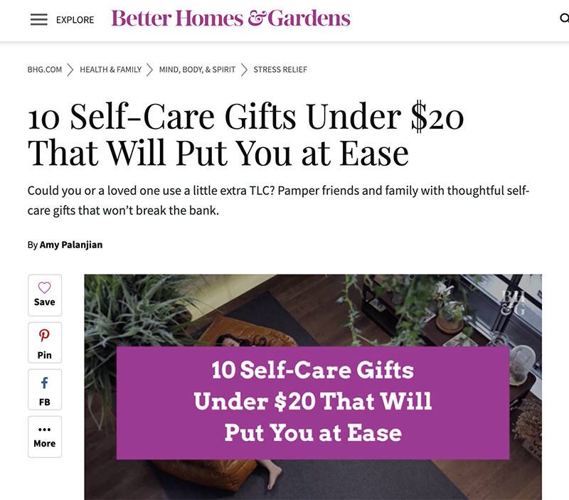 bhg self care story