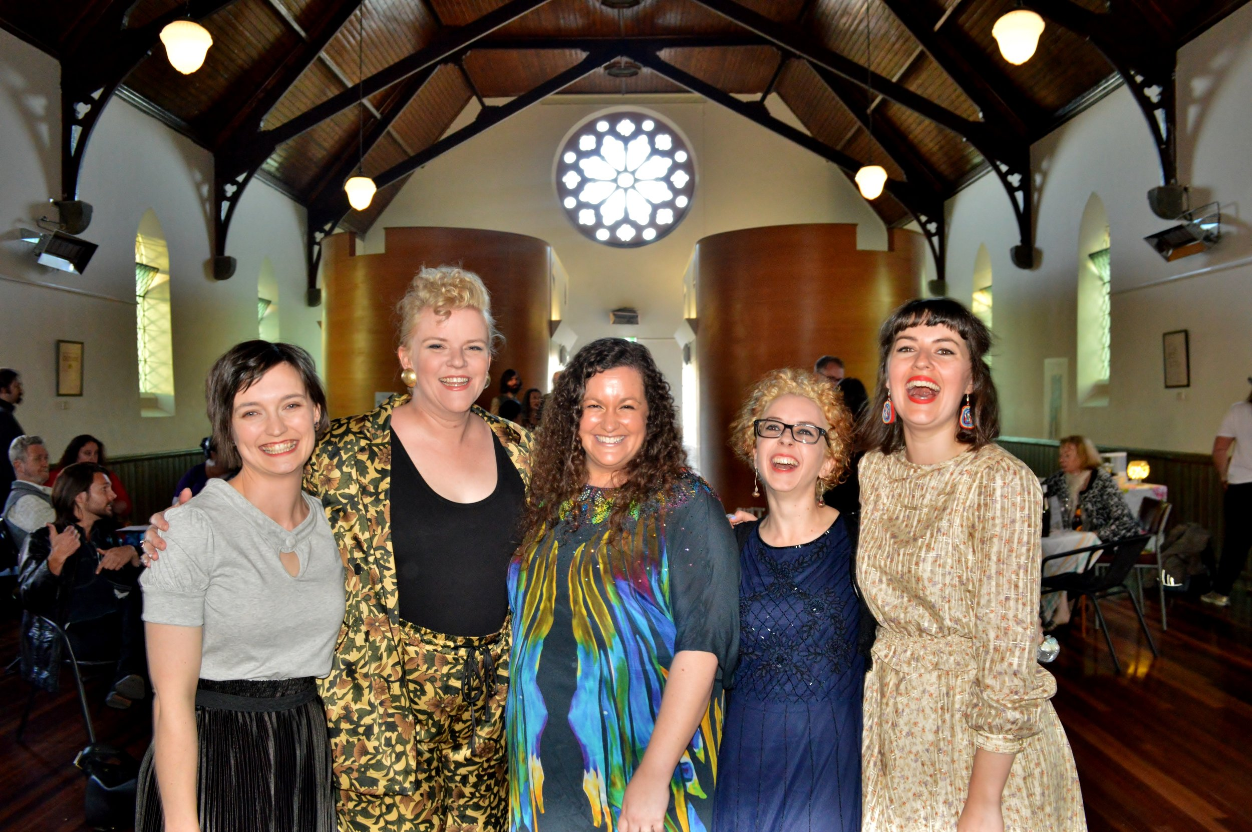 wit incorporated (L-R): Belinda Campbell, Jennifer Piper, Claire Bowen, Allison Bell, Sarah Clarke