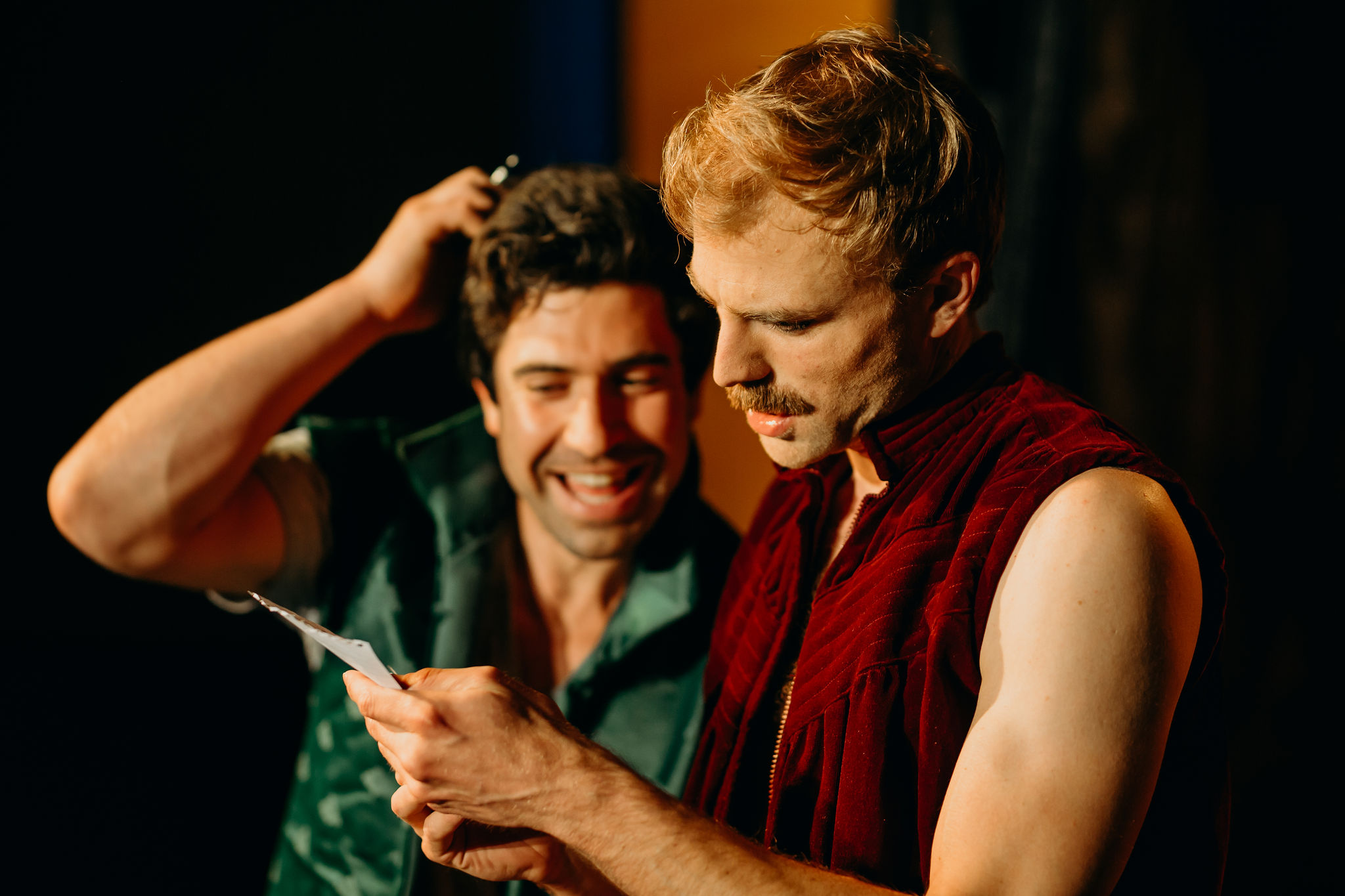 Sam Anderson as Horatio and Leigh Scully as Hamlet. Image: Jack Dixon-Gunn