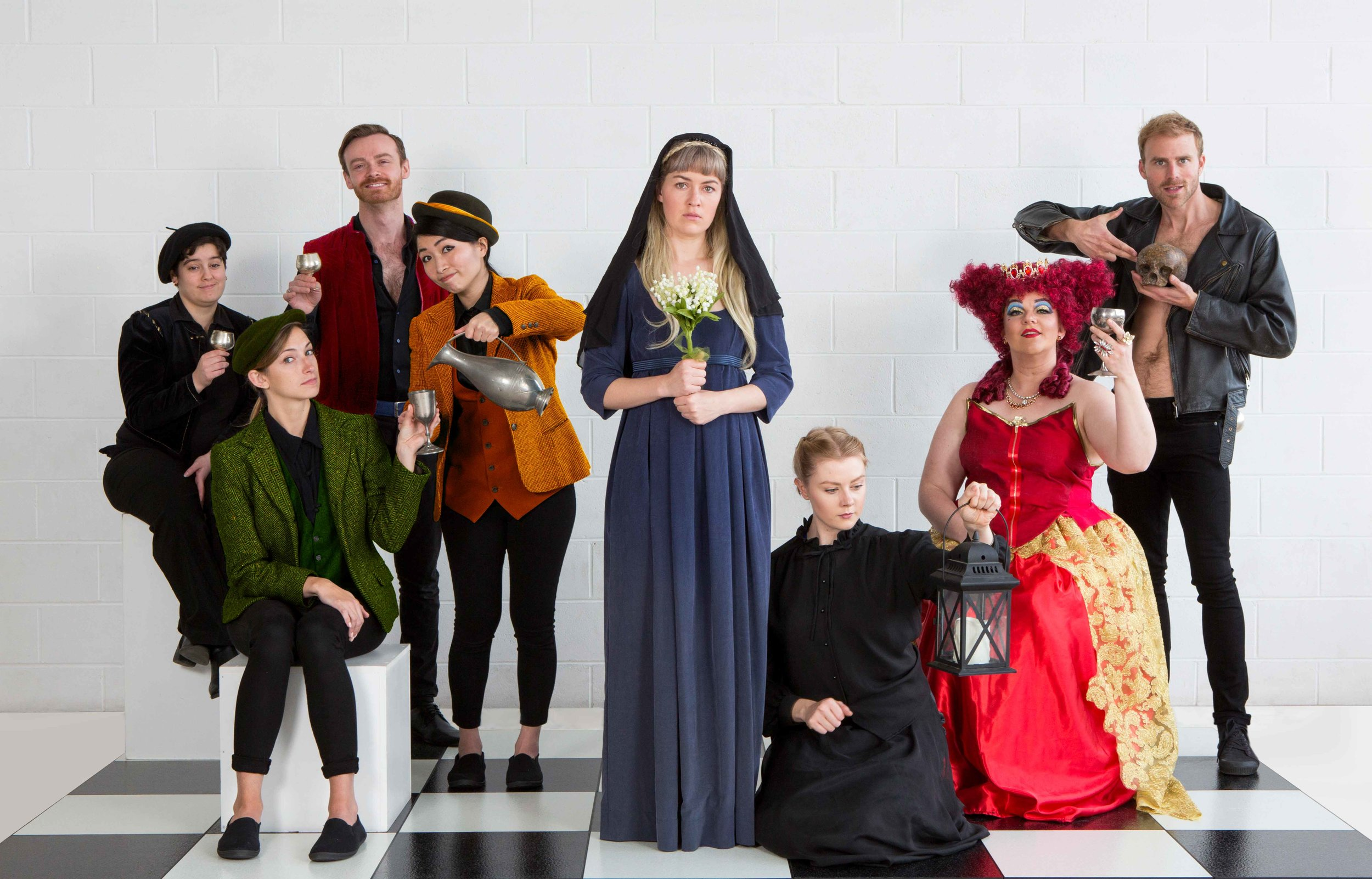 Ophelia Thinks Harder cast. Image: Nico Photography